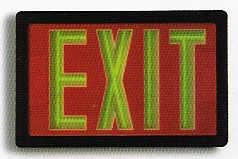 Tritium Exit Sign: 10 to 20 year internal power source needs no maintenance